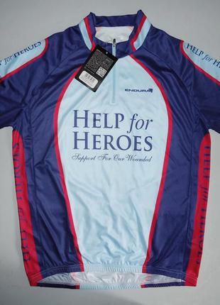 Велофутболка велосипедка endura help for heroes jersey джерси ...