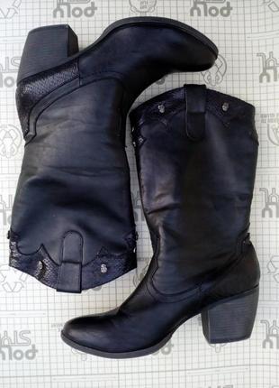 Байкерские женские сапоги черные graceland 41 размер