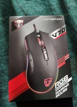 Мышь Motospeed V70 RGB подсветка геймерская мышка