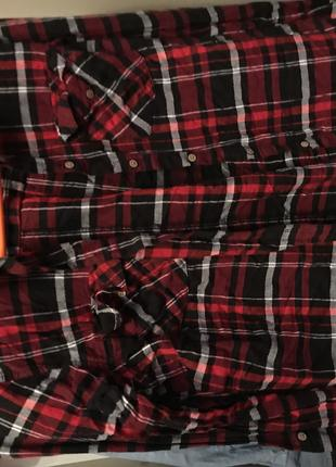 Красная рубашка в клетку