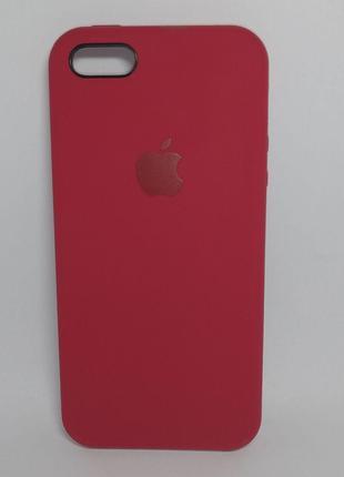 Задня накладка iPhone 5 Original Soft Touch Case Bordo