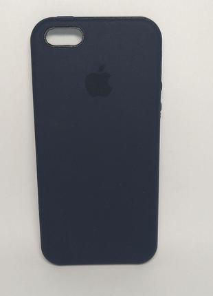Задня накладка iPhone 5 Original Soft Touch Case Deep Blue