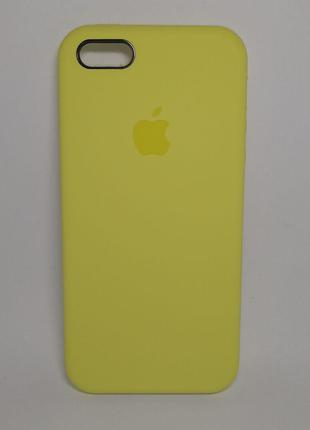 Задня накладка iPhone 5 Original Soft Touch Case Yellow
