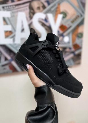 Кроссовки nike air jordan 4 retro black кросівки
