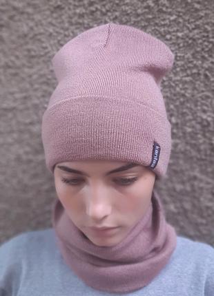 Комплект шапка и баф
