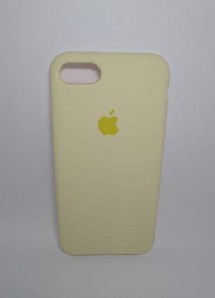 Задня накладка iPhone 7 Original Soft Touch Case Mellow Yellow