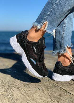 Кроссовки adidas falcon black & white кросівки