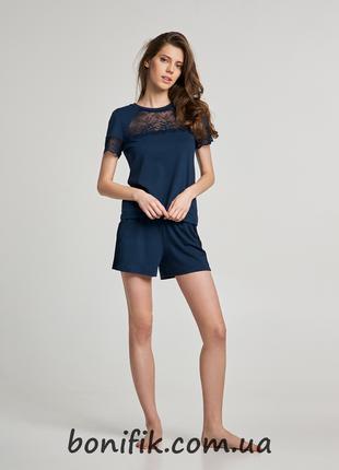 Комплект женской пижамы с кружевами арт. LNP 283/002