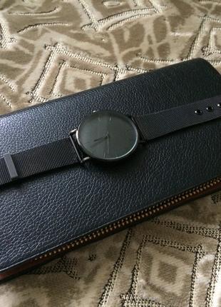 Крутой набор аксессуаров Часы, кошелёк,кожаный браслет,нож,кольцо