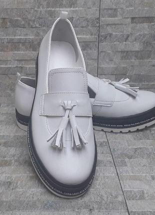 Белые лоферы, лоферы, белые туфли, кожаные туфли