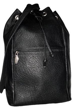 Стильная большая сумка-рюкзак,мешок натуральная кожа marco tad...