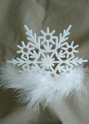 Корона снежинка карнавальная