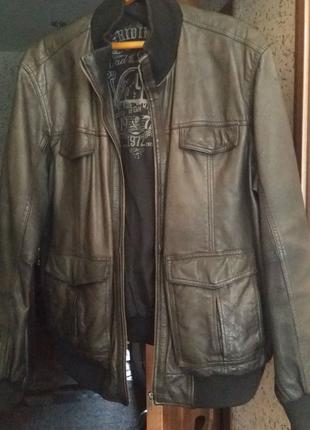 Кожаная мягкая куртка
