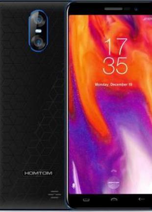Смартфон Homtom S12 | Черно-синий | 2 sim | 1/8 ГБ | 4 ядерный