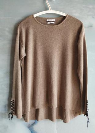 Тонкий свитер в рубчик шерсть mango suit wool blend
