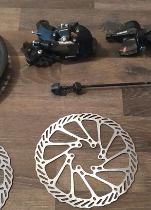 Звёзды, роторы (тормозные диски) переключатели скоростей, манетки