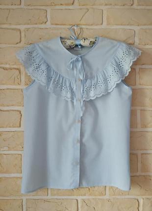 Нежная блуза,отделка прошва