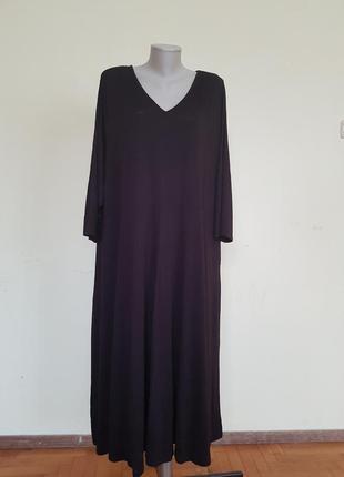 Базовое трикотажное платье 60 размер