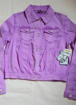 Лилово розовая джинсовая куртка bizzy германия на 13-14лет (15...