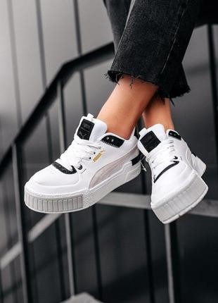 "Кроссовки puma cali sport mix "" white black"""