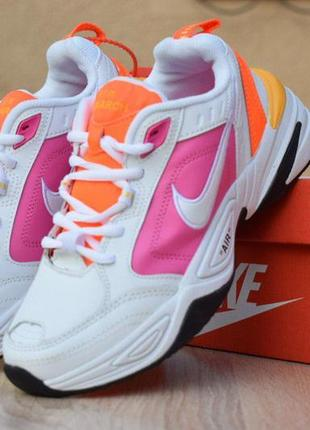 Крутые кроссовки 💪 nike  air monarch white pink 💪