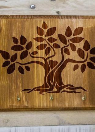 """Настенная ключница """"Дерево жизни"""" 01 из дерева"""