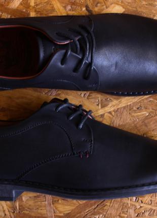 Туфли мужские классические черные дерби повседневные 42 43