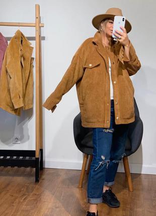 Вельветовая куртка на синтапух и подкладке