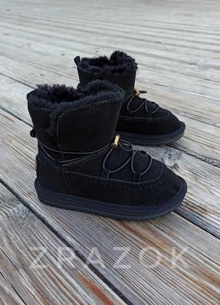 Натуральная замша натуральный мех угги детские черные ботинки ...