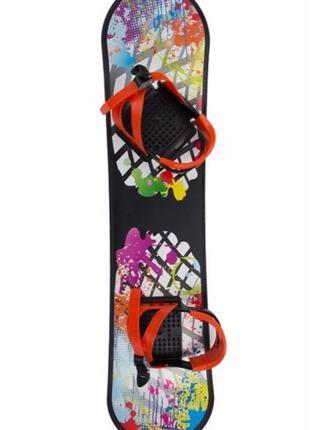 Сноуборд детский пластиковый с креплениями
