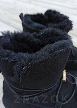 Натуральная замша натуральный мех угги детские черные сапожки ...