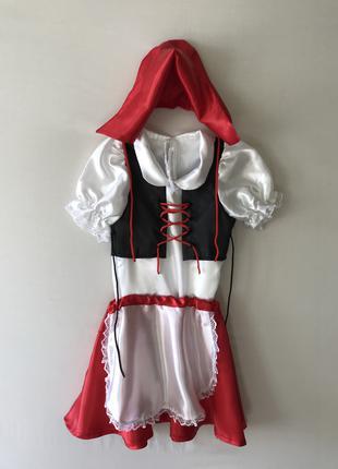 Карнавальный новогодний костюм красная шапочка