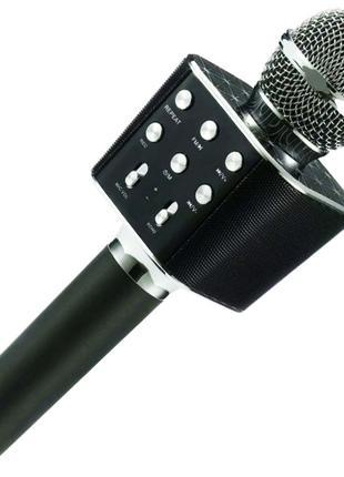 Колонка караоке микрофон портативная колонка WSTER WS 1688