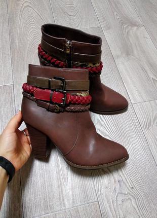 Женские осенние демисезонные ботинки ботильоны сапоги полусапожки