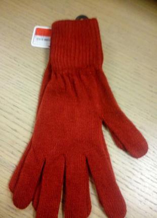 Легкие теплые вязанные зимние женские перчатки c&a