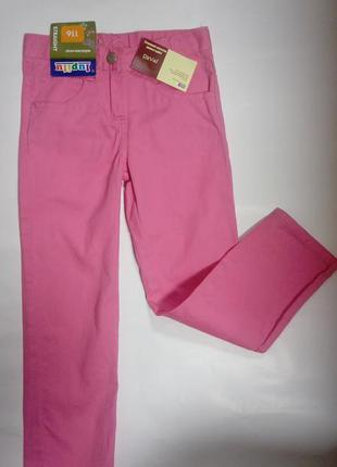 Брюки, джинсы, на девочку, яркие, lupilu,116