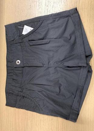 Черные  шорты для девочки, р. 134