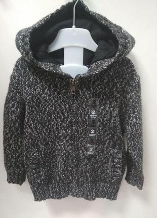 Кофта, детская, свитер, худи, теплый, вязанный,1,5-2 года