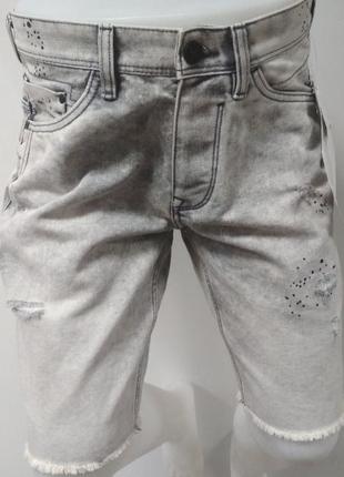 Шорты, мужские, джинсовые, варенки, c&a, размер w 33