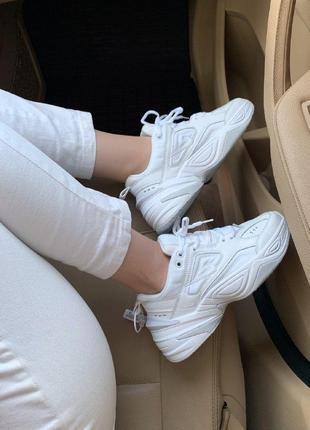 Кроссовки nike m2k tekno white / белые / найк