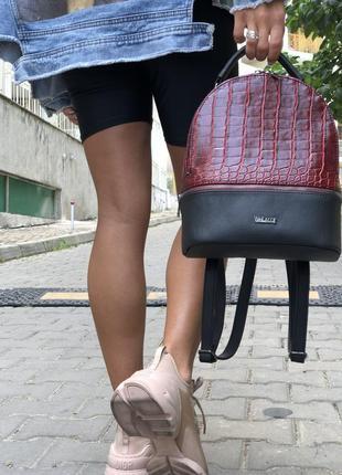 Рюкзак красный, бордовый, в школу, университет