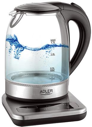 Электрочайник Adler AD 1293 с контролем температуры 1.7л 2200Вт