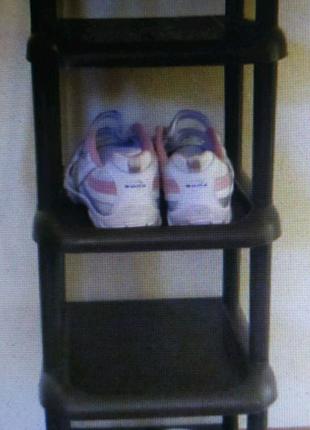 Компактная узкая на одну пару тумба обувная на 5 ярусов этажерка