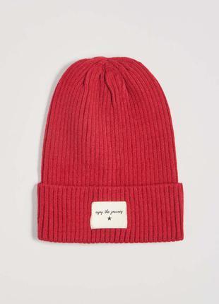 Новая красная шапка нашивка звезда надпись enjoy the journey н...