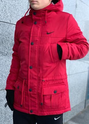 Парка зима мужская красная