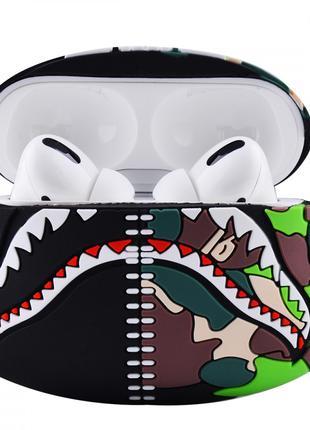 Чехол для наушников AirPods Pro/ Bape Shark Case