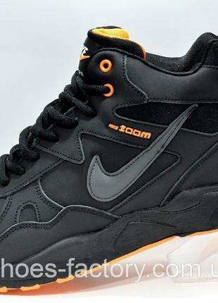 Мужские кроссовки на меху Nike Air Span 2, Чёрный/Оранжевый, к...