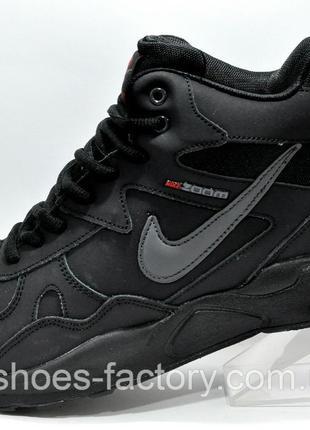 Мужские кроссовки на меху Nike Air Span 2, Чёрные, купить со с...