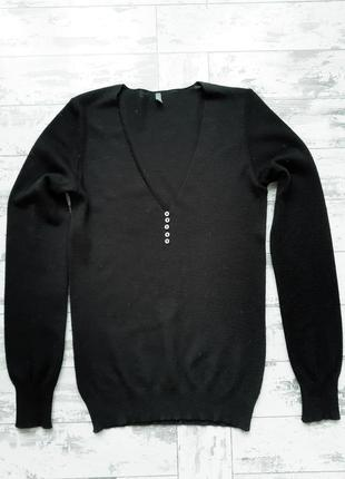 United colors of benetton черная кофта джемпер