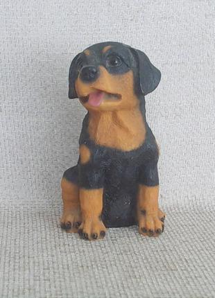 №458 Фигурка Щенок Ротвейлер керамика ручная раскраска из Германи